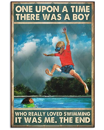 Swimming boy once upon a time poster