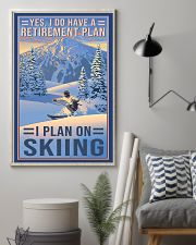 skiing retirement plan 11x17 Poster lifestyle-poster-1