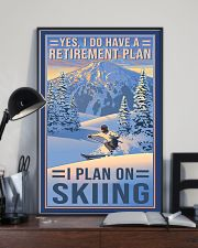 skiing retirement plan 11x17 Poster lifestyle-poster-2