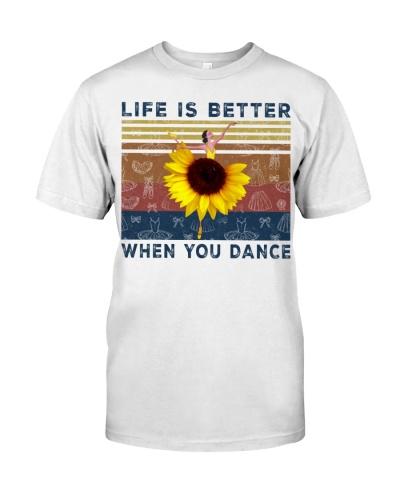 ballet sunflower life better when dancing