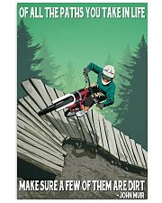 mountain bike of all the paths you take in life 11x17 Poster front