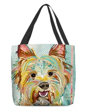 yorkie collage tote All-over Tote back