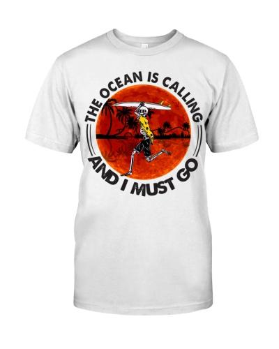 Surfing Skeleton Ocean Is Calling