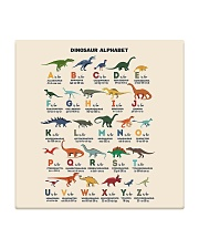 dinosaur alphabet mas Square Coaster thumbnail