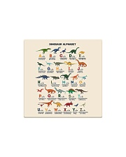 dinosaur alphabet mas Square Magnet thumbnail
