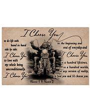 Biker I choose you customize pt lht ngt 17x11 Poster front