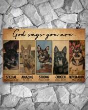 German Shepherd Police Dog God Says mttn NTH 17x11 Poster aos-poster-landscape-17x11-lifestyle-13