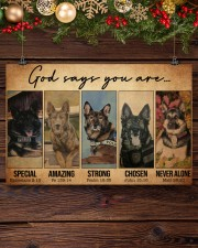 German Shepherd Police Dog God Says mttn NTH 17x11 Poster aos-poster-landscape-17x11-lifestyle-27