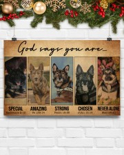 German Shepherd Police Dog God Says mttn NTH 17x11 Poster aos-poster-landscape-17x11-lifestyle-28