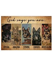 German Shepherd Police Dog God Says mttn NTH 17x11 Poster front