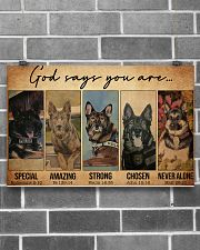 German Shepherd Police Dog God Says mttn NTH 17x11 Poster poster-landscape-17x11-lifestyle-18
