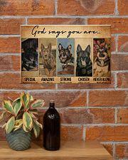 German Shepherd Police Dog God Says mttn NTH 17x11 Poster poster-landscape-17x11-lifestyle-23