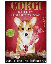 corgi cupcake 11x17 Poster front