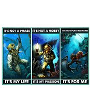 scuba diving not a phase pt phq ngt 17x11 Poster front