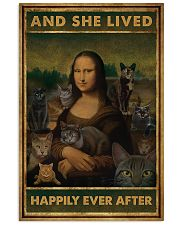mona cat happily poster 11x17 Poster front