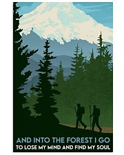 Hiking into the forest mount hood 11x17 Poster front
