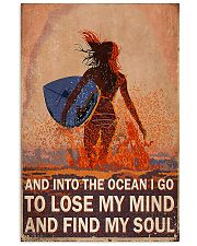 Surfing girl And Into The Ocean 11x17 Poster front
