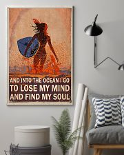 Surfing girl And Into The Ocean 11x17 Poster lifestyle-poster-1