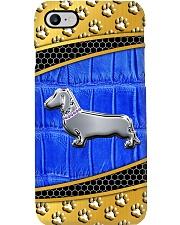 dachshund blue phonecase Phone Case i-phone-8-case