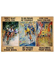 cycling reach the goal 3 pt lqt pml 17x11 Poster front