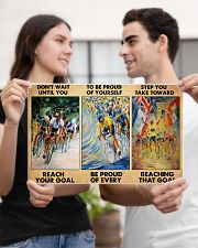 cycling reach the goal 3 pt lqt pml 17x11 Poster poster-landscape-17x11-lifestyle-20