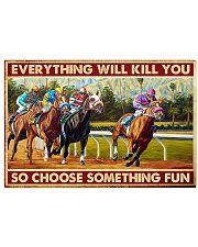 horse racing Santa Anita choose fun pt-lqt-nna  24x16 Poster front