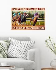 horse racing Santa Anita choose fun pt-lqt-nna  24x16 Poster poster-landscape-24x16-lifestyle-01