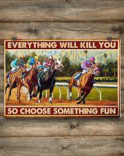 horse racing Santa Anita choose fun pt-lqt-nna  24x16 Poster poster-landscape-24x16-lifestyle-15