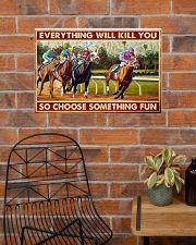 horse racing Santa Anita choose fun pt-lqt-nna  24x16 Poster poster-landscape-24x16-lifestyle-24