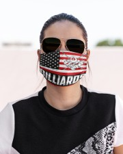 billiards us flag mas Cloth Face Mask - 3 Pack aos-face-mask-lifestyle-02