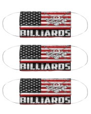 billiards us flag mas Cloth Face Mask - 3 Pack front