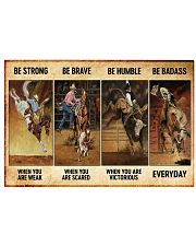 rodeo be strong brave humble pt mttn nna ads 17x11 Poster front