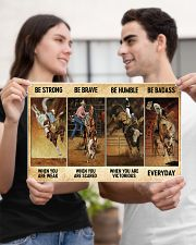 rodeo be strong brave humble pt mttn nna ads 17x11 Poster poster-landscape-17x11-lifestyle-20