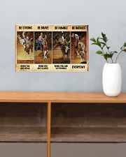 rodeo be strong brave humble pt mttn nna ads 17x11 Poster poster-landscape-17x11-lifestyle-24