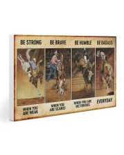 rodeo be strong brave humble pt mttn nna ads Gallery Wrapped Canvas Prints tile