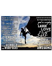 Rock climbing today is a good day pt dvhh pml 17x11 Poster front