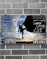 Rock climbing today is a good day pt dvhh pml 17x11 Poster poster-landscape-17x11-lifestyle-18