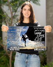 Rock climbing today is a good day pt dvhh pml 17x11 Poster poster-landscape-17x11-lifestyle-19