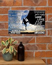 Rock climbing today is a good day pt dvhh pml 17x11 Poster poster-landscape-17x11-lifestyle-23