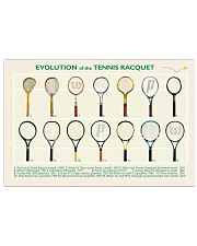 Evolution of the Tennis Racquet  17x11 Poster front