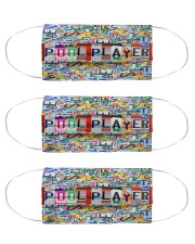 pool player plates mas Cloth Face Mask - 3 Pack front