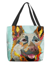 german shepherd vintage and rustic tote All-over Tote back