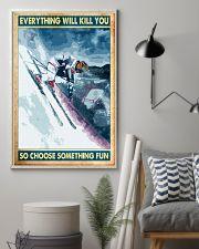 skiing choose something fun poster 11x17 Poster lifestyle-poster-1