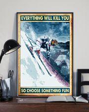 skiing choose something fun poster 11x17 Poster lifestyle-poster-2