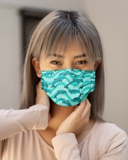 Dolphin Pattern Msk 5 Cloth Face Mask - 3 Pack aos-face-mask-lifestyle-18