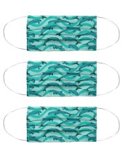 Dolphin Pattern Msk 5 Cloth Face Mask - 3 Pack front
