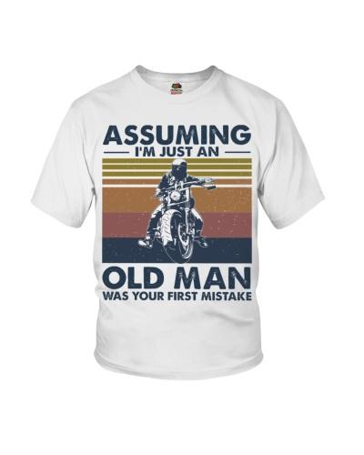 motorbike assuming old man