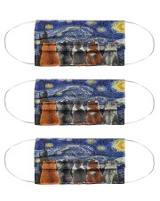 cat starry night mas Cloth Face Mask - 3 Pack front