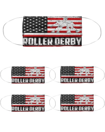 Roller Derby us flag mas