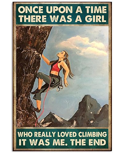 climbing girl once upon a time poster